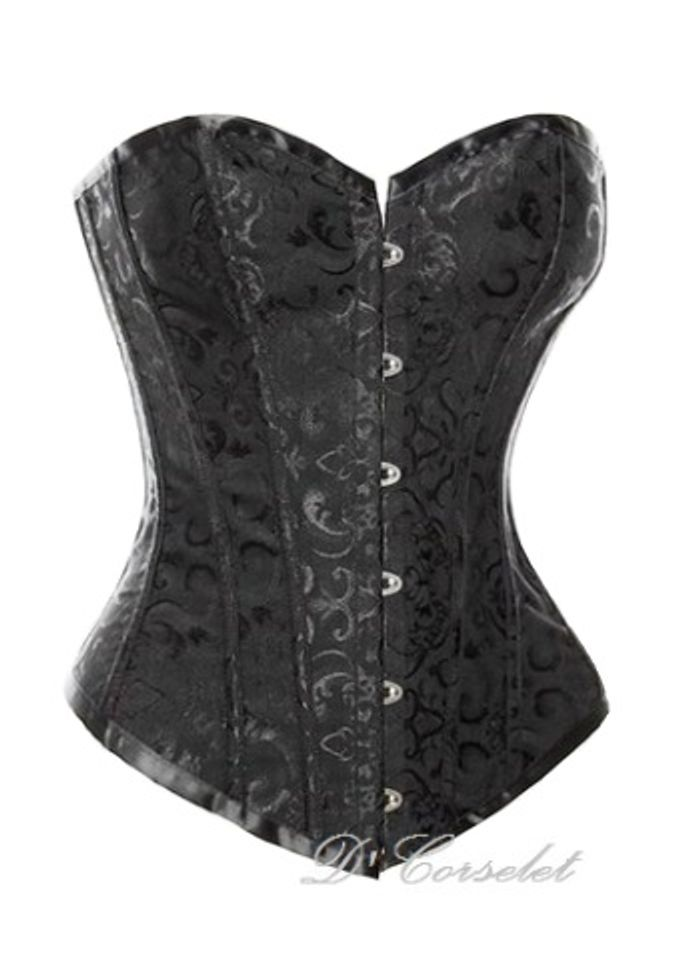 Simple Brocade Corset by D' Corselet Singapore - 005