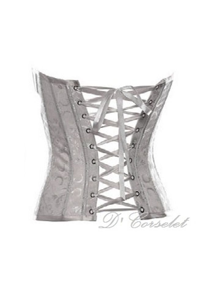 Simple Brocade Corset by D' Corselet Singapore - 004