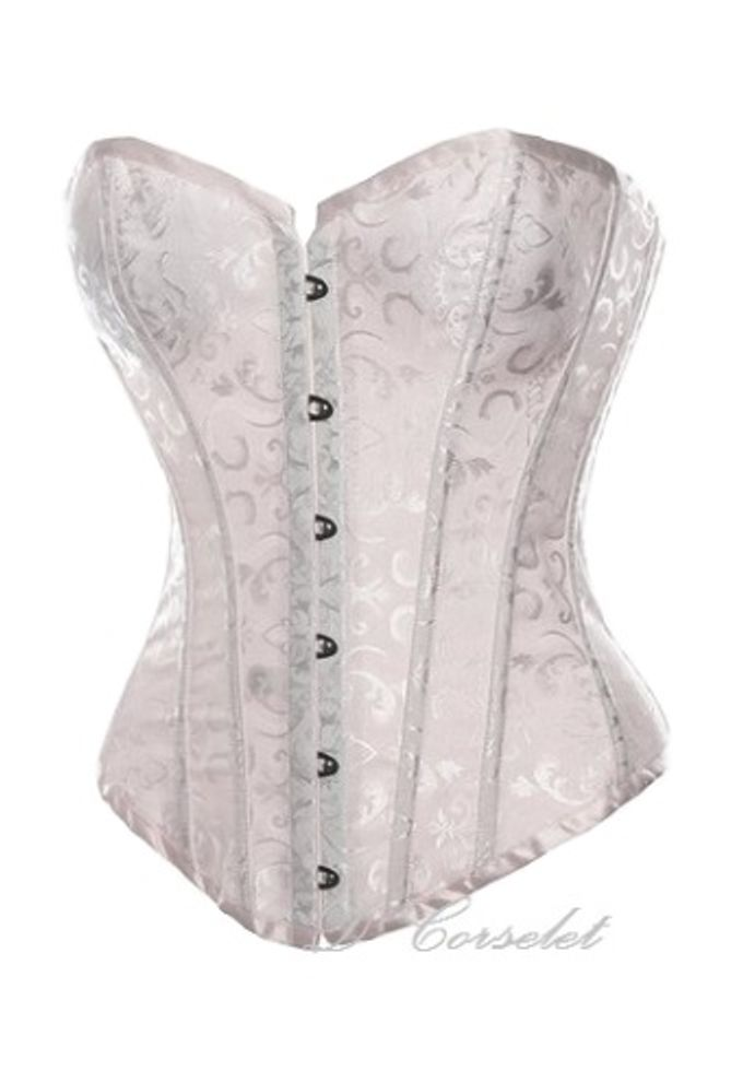 Simple Brocade Corset by D' Corselet Singapore - 003