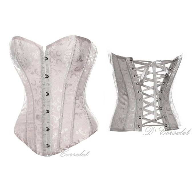 Simple Brocade Corset by D' Corselet Singapore - 001