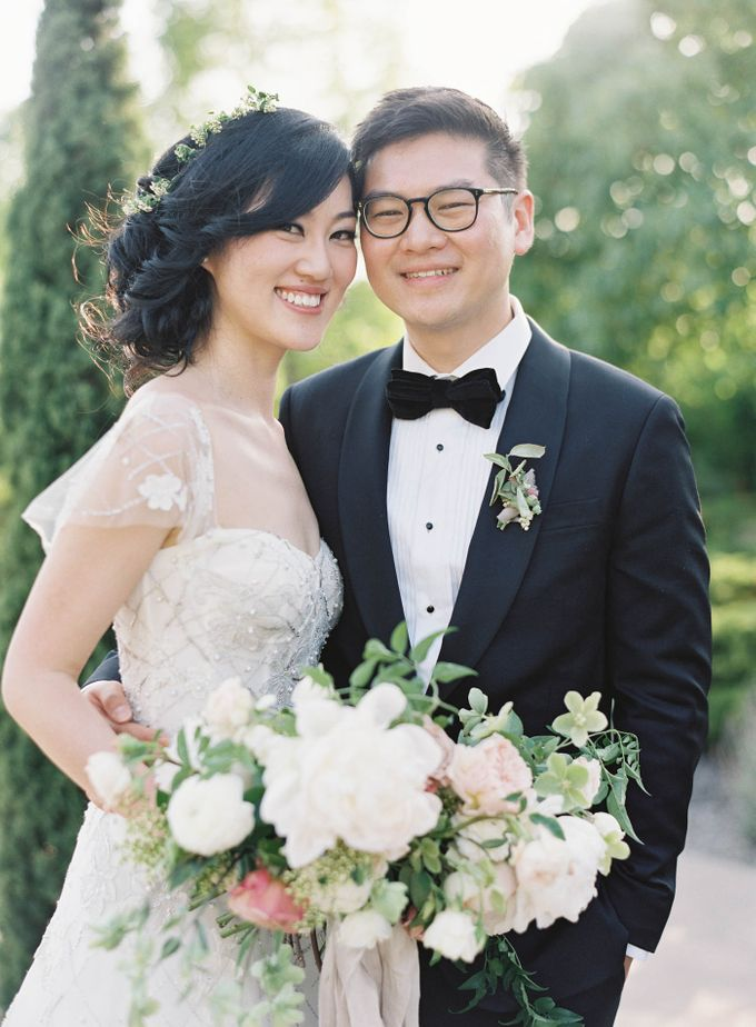 Blue & White Garden Wedding at Carneros Inn by Jen Huang Photo - 030