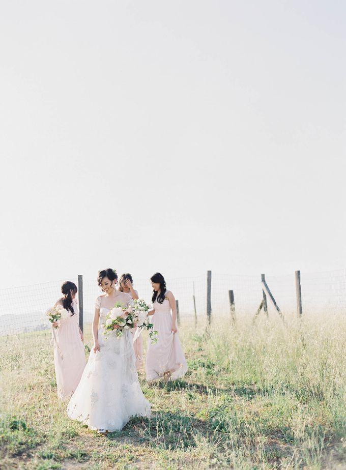 Blue & White Garden Wedding at Carneros Inn by Jen Huang Photo - 035