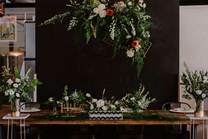 Lovely Industrial Backdrop Styled Shoot by LITTLE ISLAND BREWING CO. - 004