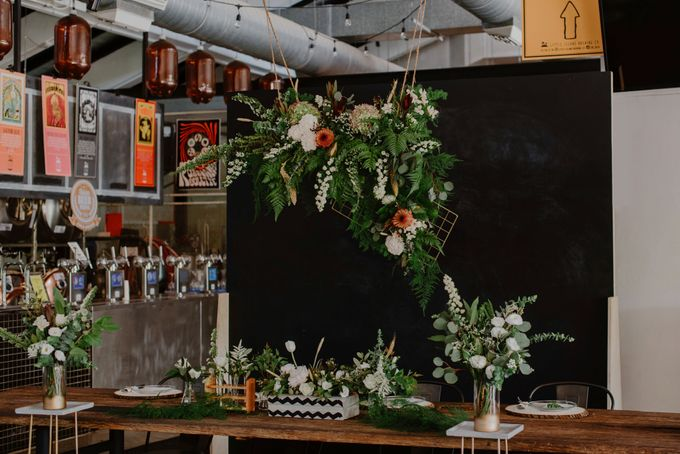 Lovely Industrial Backdrop Styled Shoot by LITTLE ISLAND BREWING CO. - 005