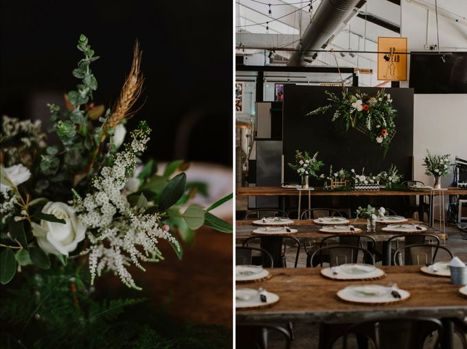 Lovely Industrial Backdrop Styled Shoot by LITTLE ISLAND BREWING CO. - 006
