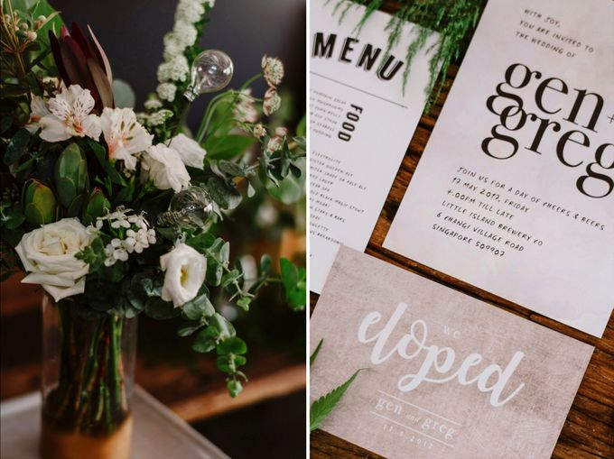 Lovely Industrial Backdrop Styled Shoot by LITTLE ISLAND BREWING CO. - 010