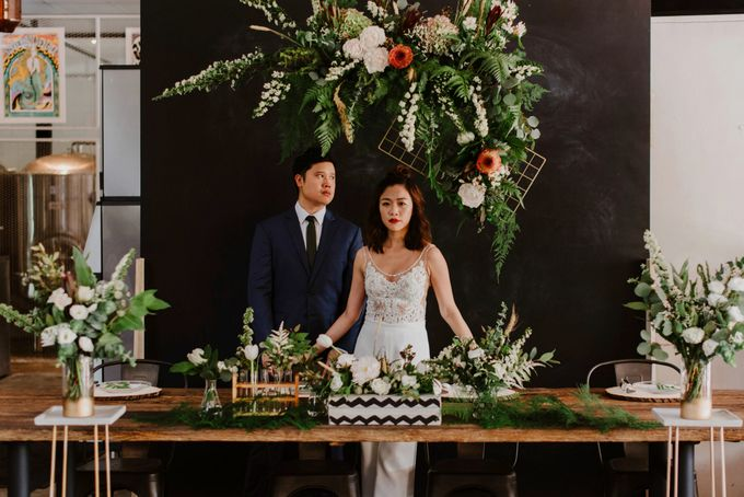 Lovely Industrial Backdrop Styled Shoot by LITTLE ISLAND BREWING CO. - 012