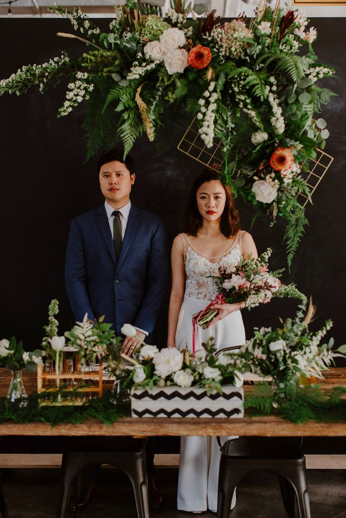 Lovely Industrial Backdrop Styled Shoot by LITTLE ISLAND BREWING CO. - 013