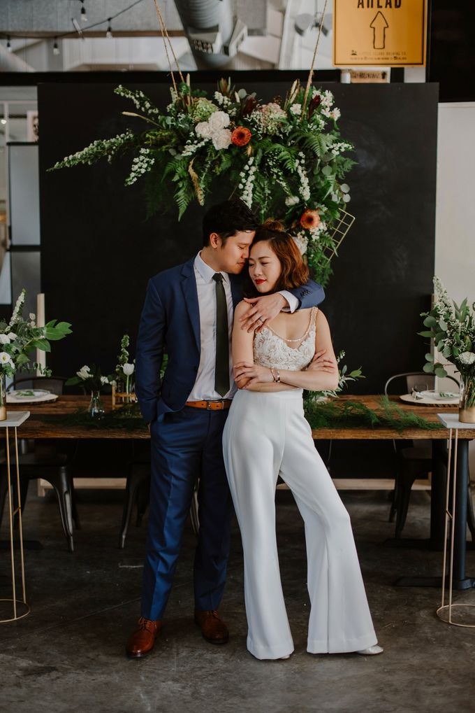 Lovely Industrial Backdrop Styled Shoot by Caramel & Co. - 015