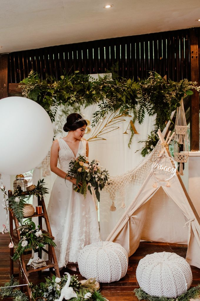 Rustic White Wedding of Astrina Chandra by With Every - 002