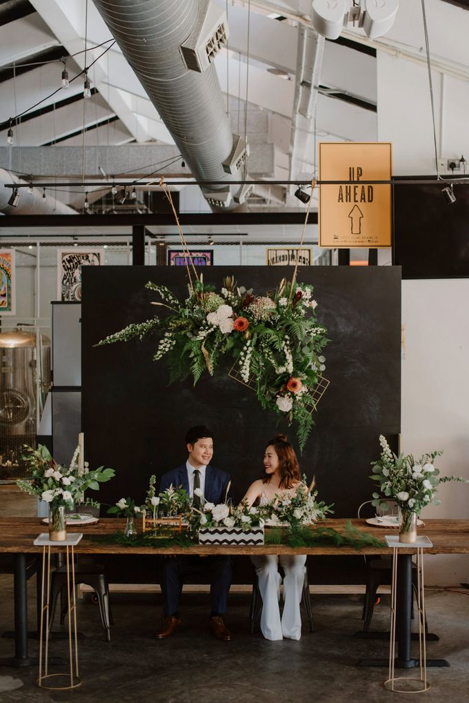 Lovely Industrial Backdrop Styled Shoot by LITTLE ISLAND BREWING CO. - 017