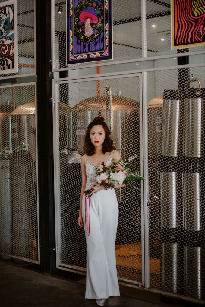 Lovely Industrial Backdrop Styled Shoot by LITTLE ISLAND BREWING CO. - 018