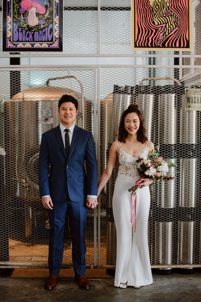 Lovely Industrial Backdrop Styled Shoot by LITTLE ISLAND BREWING CO. - 019