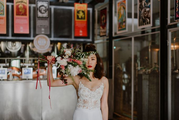 Lovely Industrial Backdrop Styled Shoot by LITTLE ISLAND BREWING CO. - 020