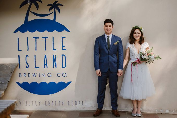 Lovely Industrial Backdrop Styled Shoot by LITTLE ISLAND BREWING CO. - 027