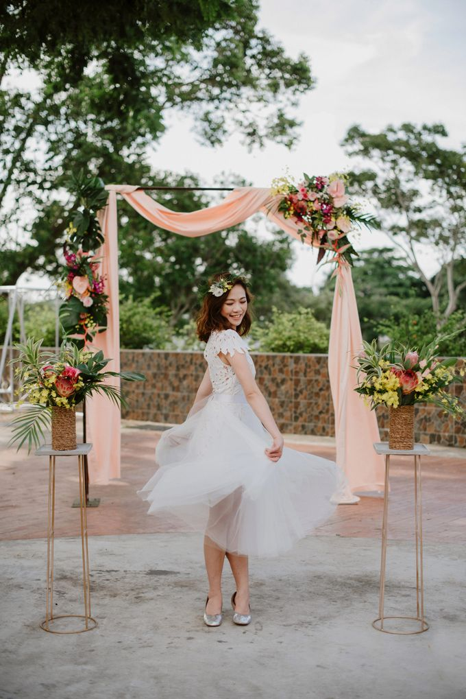 Lovely Industrial Backdrop Styled Shoot by LITTLE ISLAND BREWING CO. - 033