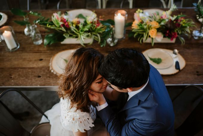 Lovely Industrial Backdrop Styled Shoot by LITTLE ISLAND BREWING CO. - 039