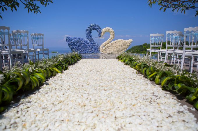 our chapel and water wedding decor by Jc Florist Bali - 008