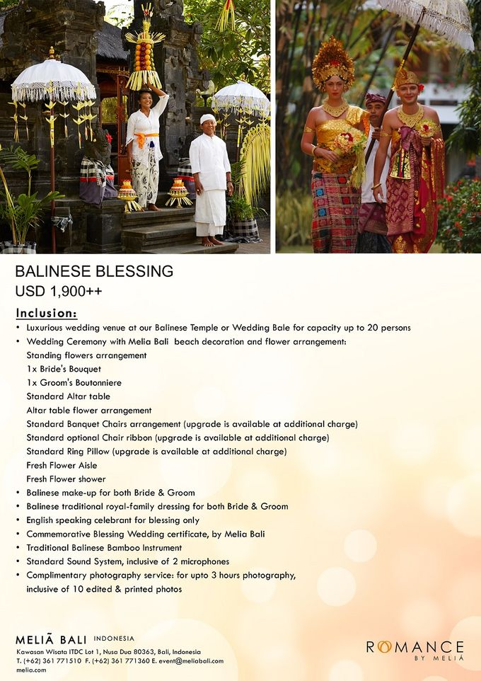 New Wedding Package by Meliá Bali Indonesia - 001