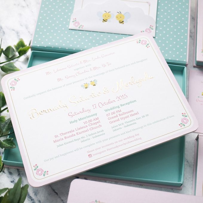 Bernady and merlynda wedding invitation by ink design printing add to board bernady and merlynda wedding invitation by grand hyatt jakarta 001 stopboris Images