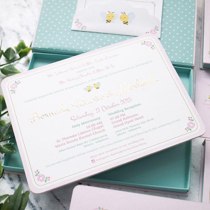 Bernady And Merlynda Wedding Invitation By Ink Design Printing