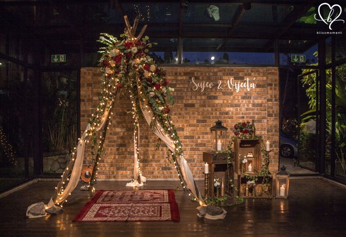 Sujev & Vijeeta - New Zealand Inspired Vintage Rustic Wedding Reception by Blissmoment - 001