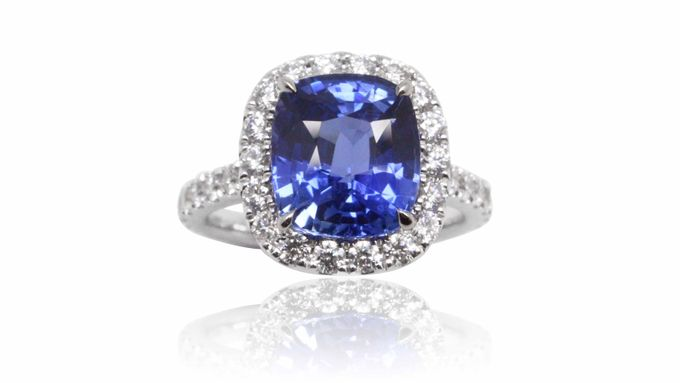 Blue Sapphire Engagement Ring by GIOIA FINE JEWELLERY - 002