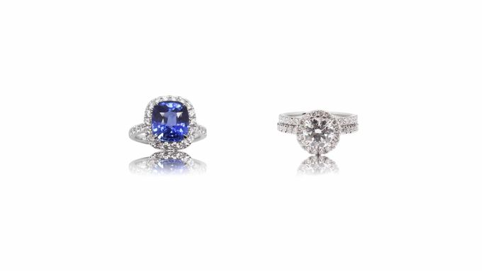 Blue Sapphire Engagement Ring by GIOIA FINE JEWELLERY - 001