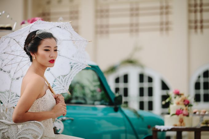 VINTAGE FRENCH-INSPIRED STYLED SHOOT by The Prelude Bridal - 006