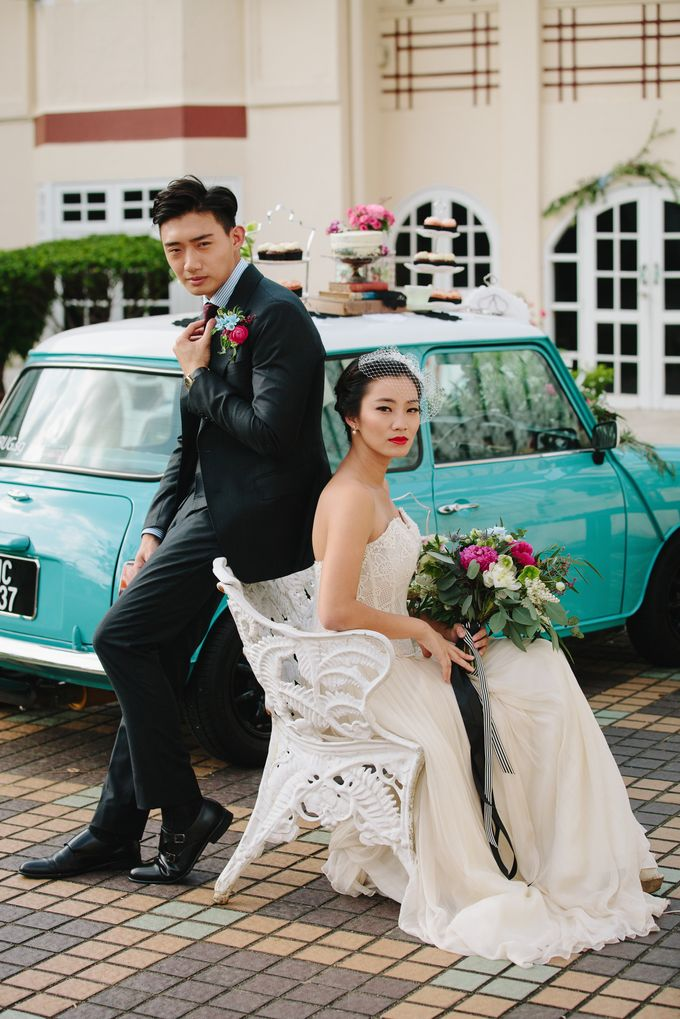 VINTAGE FRENCH-INSPIRED STYLED SHOOT by The Prelude Bridal - 005