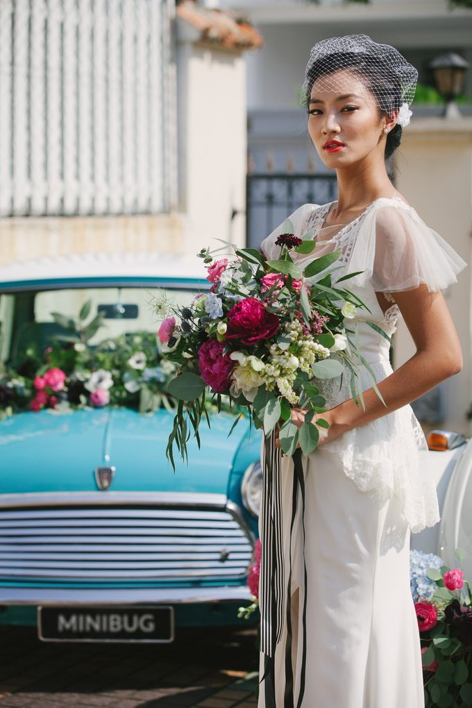 VINTAGE FRENCH-INSPIRED STYLED SHOOT by The Prelude Bridal - 004