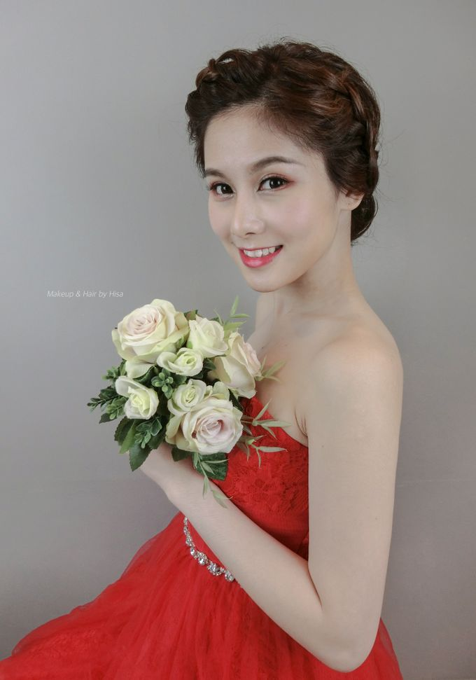 Red Wedding Gown Style By Hisa By Cocoon Makeup And Hair