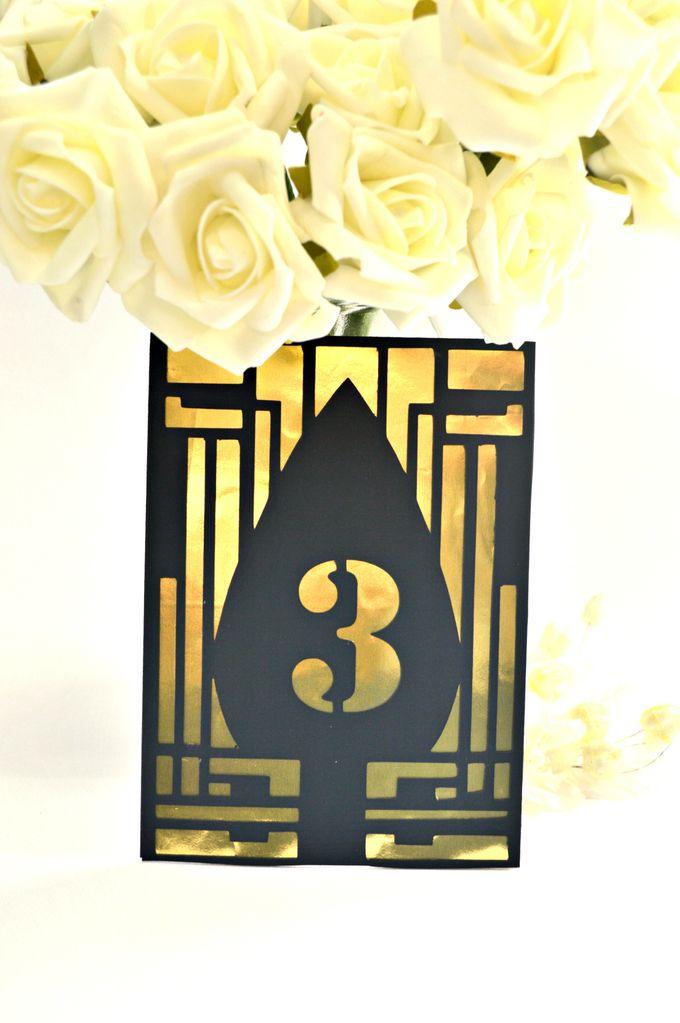 Art deco Table numbers by Jasmine wedding prints - 002