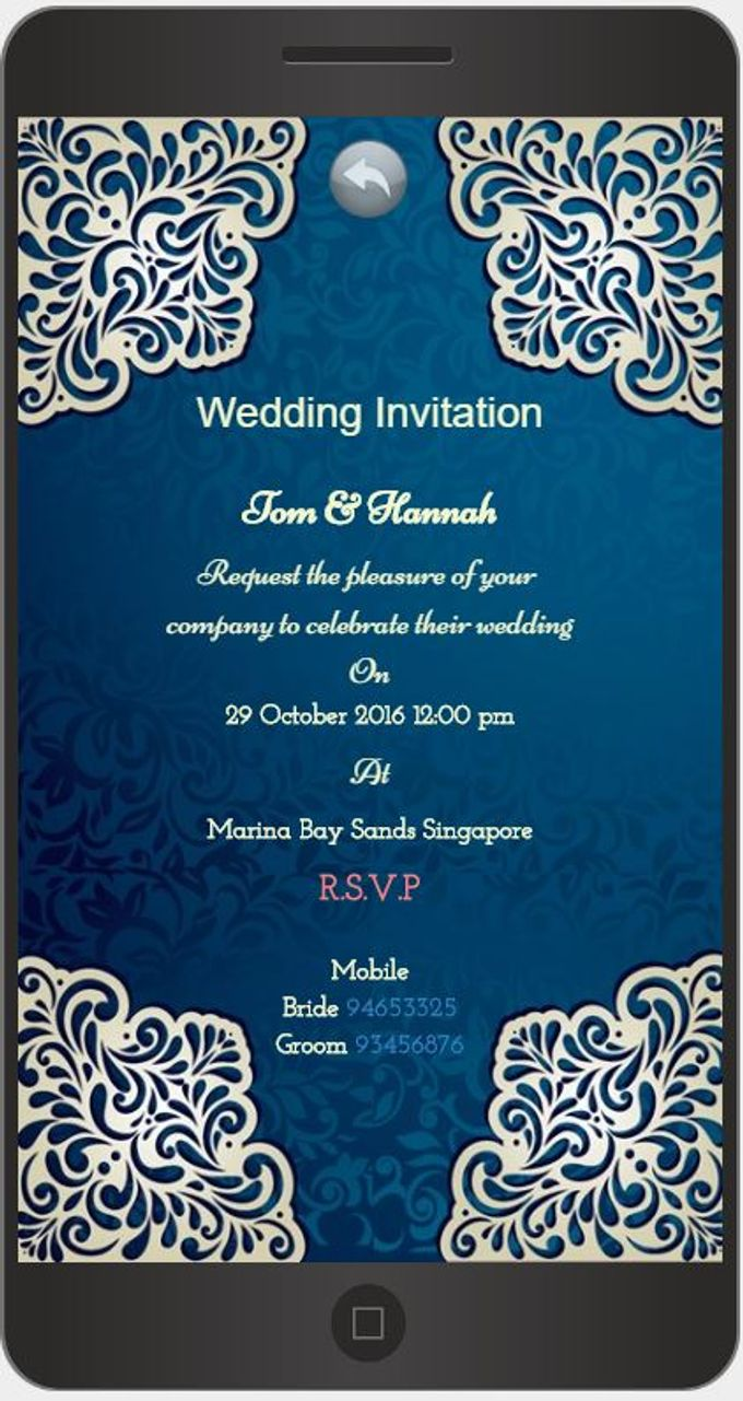 A Mobile Wedding Invitation Webiste by GraceWood.co - 008