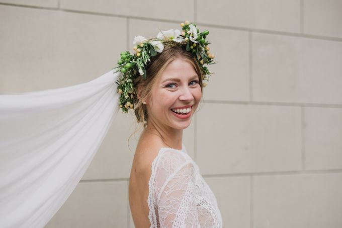 Caroline and Ricco rustic wedding by Atelier of memories - 013