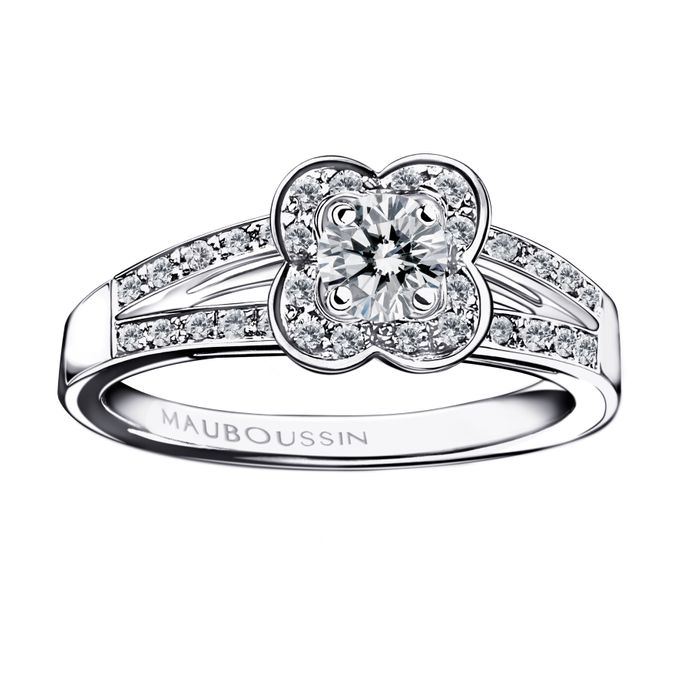 Chance of Love diamond engagement ring by Mauboussin by MAUBOUSSIN - 001
