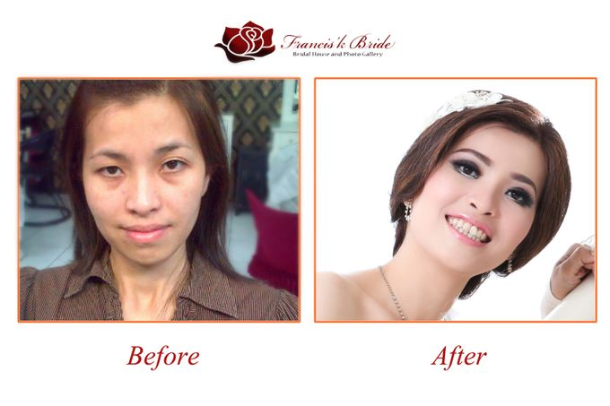 Before - After Make Up by Francis'k Bride - 005