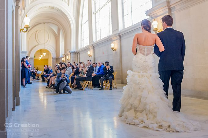 San Francisco City Hall Wedding by ES Creation Photography - 001