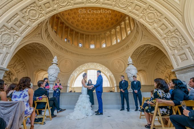 San Francisco City Hall Wedding by ES Creation Photography - 002