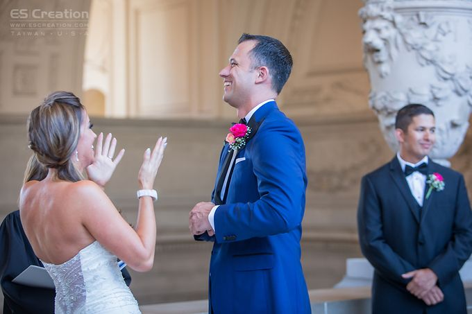 San Francisco City Hall Wedding by ES Creation Photography - 003