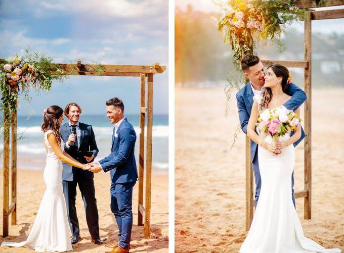Boho beach wedding by Wild Blossom Flowers - 005
