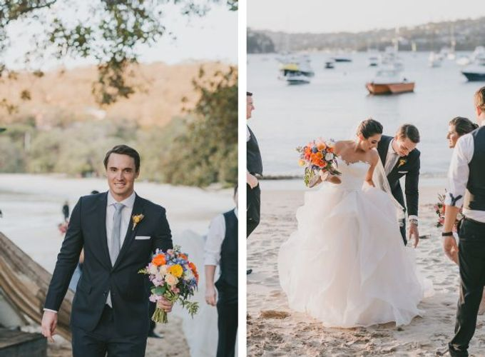 Beach wedding by Wild Blossom Flowers - 006
