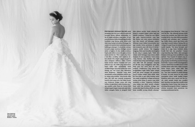 ARALE feat TEX SAVERIO Collection for RALINE SHAH at BRIDESTORY Magazine Second Edition by Bubah Alfian Make Up Artist - 004