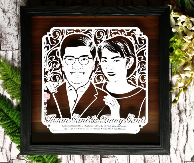 Wedding Gift - Face Sketch Bride and Groom by Cutteristic - 002