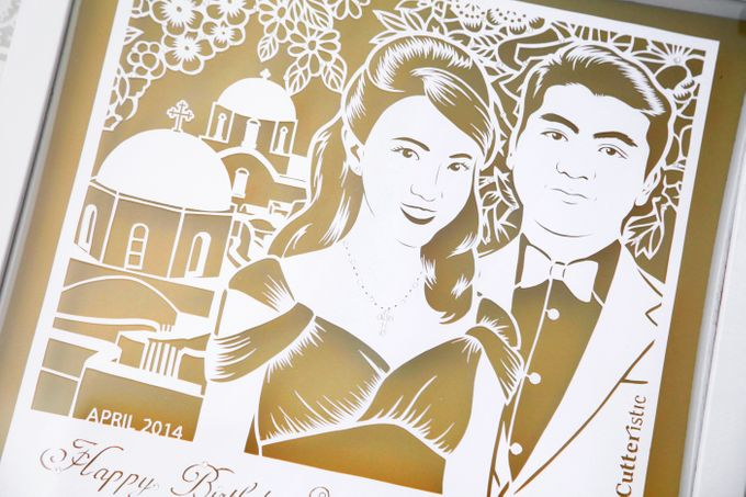 Wedding Gift - Face Sketch Bride and Groom by Cutteristic - 008
