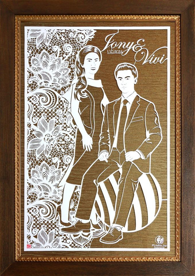 Wedding Gift - Face Sketch Bride and Groom by Cutteristic - 007