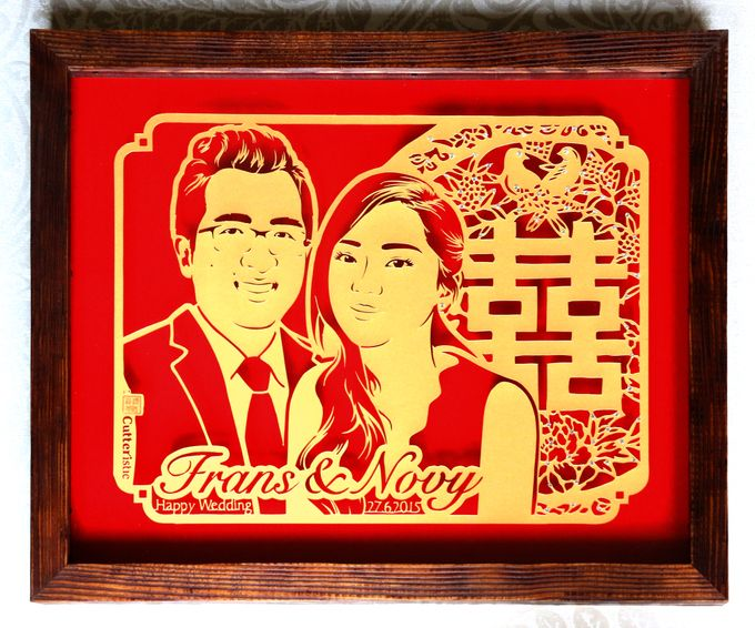 Wedding Gift - Face Sketch Bride and Groom by Cutteristic - 006