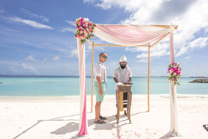 Ron and Aleenas  Beach Wedding in Maldives by Asad's Photography - 001