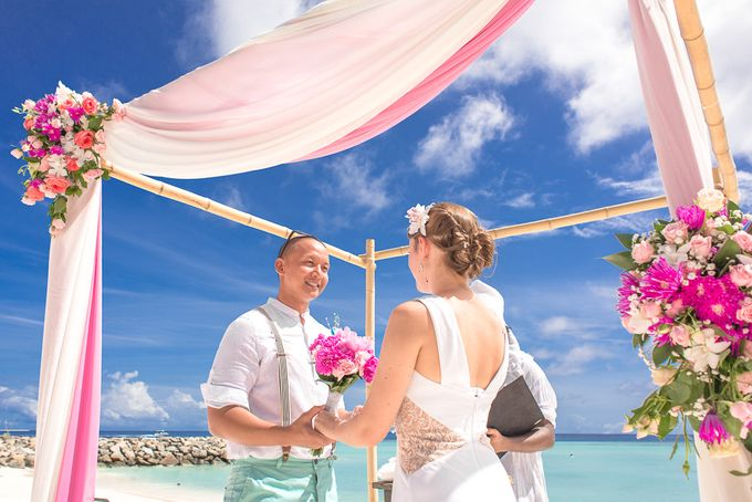 Ron and Aleenas  Beach Wedding in Maldives by Asad's Photography - 002