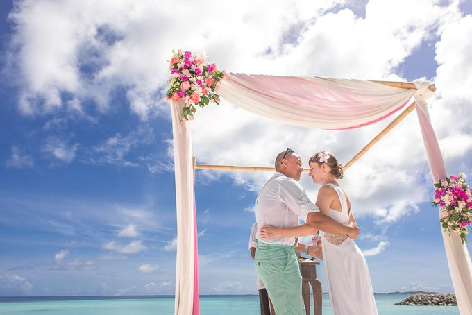 Ron and Aleenas  Beach Wedding in Maldives by Asad's Photography - 003